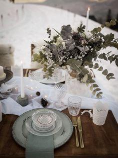 Mariage d'hiver Shooting d'inspiration - L'apprentie Mariée Garance, Hygge, Table Decorations, Winter, Wedding, Inspiration, Home Decor, Winter Weddings, Color