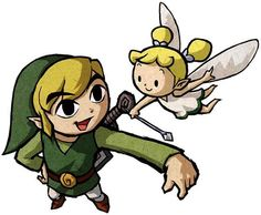 aryll fairy and link, wind waker