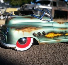 Patina on this pedal car with realistic flames