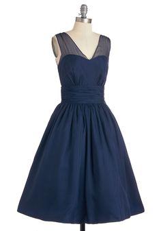 Professionally Posh Dress in Navy | Mod Retro Vintage Dresses | ModCloth.com