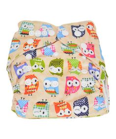 Look what I found on #zulily! MG Baby Cream Owl Pocket Diaper by MG Baby #zulilyfinds
