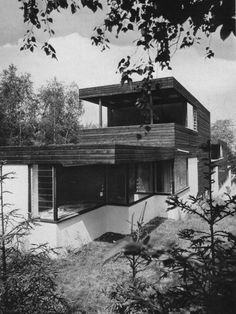 Semi-detached House (1958) in Siegburg, Germany, by Erich Schneider-Wessling