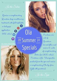 Summer special poster for Ola Salon 16x24 #beauty #olasalon #spa #salon #salonlife