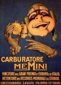 Vintage Italian Posters ~ #illustrator #Italian #vintage #posters ~ Billboard Memini made by Biscaretti of Ruffia
