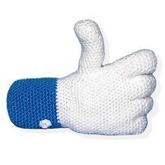 Patrones Amigurumi: Like de Facebook