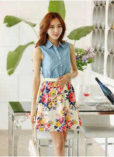 Chinese Fashion Floral Dress