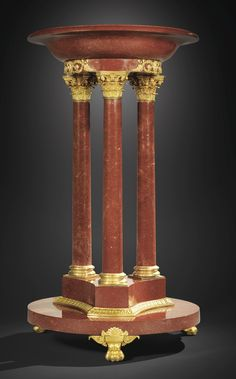 A GILTBRONZE MOUNTED SWEDISH RED PORPHYRY BASIN, FIRST THIRD OF 19TH CENTURY, ÄLVADALEN WORKSHOP, THE MOUNTS ATTRIBUTED TO LUDWIG MANGEOT Estimate 200,000 — 300,000 EUR