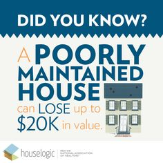 Keeping up with #home #maintenance pays off in the long run!