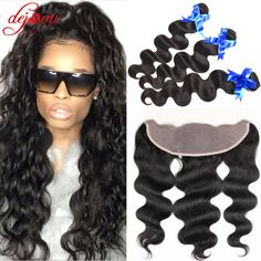 13x4 Lace Frontal Closure With Bundles 8A Brazilian Body Wave With Frontal Closure 3 Bundles Brazilian Virgin Hair With Closures