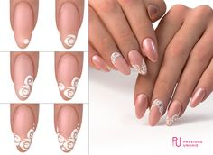 51 Trendy Ideas For Wedding Nails Art Unghie Sposa Pink Manicure, Mani Pedi, Bride Nails, Wedding Nails, Nailart, Simple Gel Nails, Rose Nail Art, Gel Uv, Xmas Nails