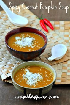 Spicy Coconut Pumpkin Soup - flavorful and so good for you especially this winter season!