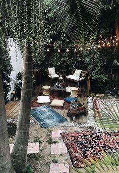 Outdoor space, backyard.