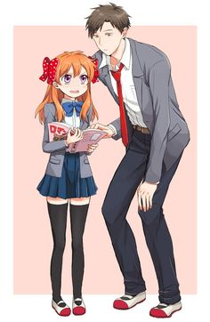 Gekkan Shoujo Nozaki-kun I love this pairing! Nozasaku (Nozaki and chiyo sakura )