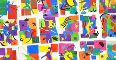 Inspired by Matisse Cut-Outs...make it relate to the students' multiple intelligence...