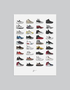 Image of  ★ NEW ★ <br>2016 Edition - Assorted Sneaker Print<br>