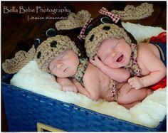 Moose Tracks Newborn/Baby Moose Hat Made to by YarnOverCrochet