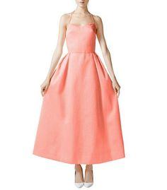 Rosie Assoulin Cloque Tea Length Dress