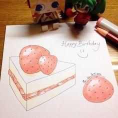 tasty cake for you | #mekaworks #drawing #strawberryshortcake