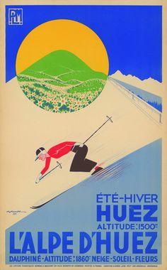 FRANCE HUEZ p 103 Tour de France en Posters
