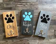 Dog Crafts, Animal Crafts, Crafts To Sell, Vinyl Crafts, Arte Pallet, Dog Leash Holder, Dog Rooms, Pet Furniture, Dog Signs