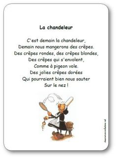 Comptine La chandeleur, C'est demain la chandeleur French Poems, French Education, French Classroom, French Resources, Petite Section, French Teacher, Teacher Hacks, Learn French, Teacher Resources