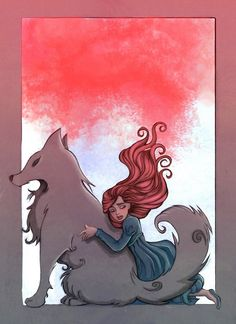"Sansa Stark and Lady by ~Celiarts  Sansa sat up. ""Lady,"" she whispered. For a moment it was as if the direwolf was there in the room, looking at her with those golden eyes, sad and knowing. She had been dreaming, she realized. Lady was with her, and they were running together, and…and…trying to remember was like trying to catch the rain with her fingers. The dream ended, and Lady was dead again. -Sansa, AGOT"