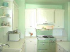 Daily Design Delight: Mint Green Retro Kitchen