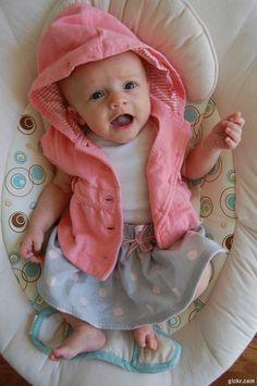 Bulldogs and Babies: DIY Baby Skirt