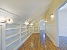Attic closet - make use of walls under slanted ceilings ;)