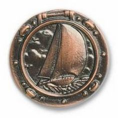 Buck Snort Lodge Cabinet Knobs and Pulls - Sailboat in Porthole