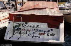 Not beautiful, not vintage, but funny - PHOTOS: Boat names for the bold boater >> Scuttlebutt Sailing News Clever Boat Names, Funny Boat Names, Name Pictures, Funny Pictures, Boat Humor, Rookie Mistake, Float Your Boat, Old Boats, Boater