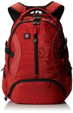 Victorinox Vx Sport Scout, Red, One Size. Includes two interior zipper pockets and four interior multi-function pockets. Six exterior zipper pockets. Shoulder straps have a length of Laptop Backpack, Travel Backpack, Popular Backpacks, Carry On Size, Backpack For Teens, Designer Backpacks, North Face Backpack, Camping Hacks, Glamping