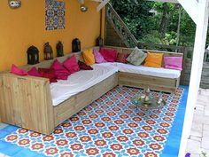 Moroccan tiled patio