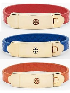 Tory Burch embossed leather bracelets http://rstyle.me/n/mqbhmnyg6