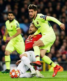 He played. He left everyone in awe. Sergi Roberto, Old Trafford, Fc Barcelona, Sumo, Soccer, Wrestling, Sports, Champions League, Lucha Libre