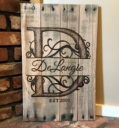 Family Sign/Last Name Sign/Personalized/Wedding Gift/Housewarming/Home Decor/Family/Rustic Home Decor/Wood Signs/Farmhouse Decor/Monogram