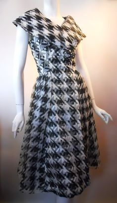 1960s houndstooth dress, DCV archives - first sewing class - houndstooth patterns were quite enviable.. waaaaay back then ;-)