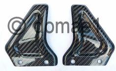 carbon fiber heel guards plates rear passenger Ducati Monster S2R S4R