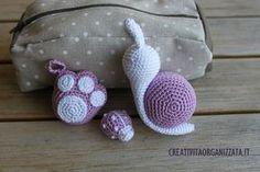 Schemi amigurumi: lumaca, coccinella, zampetta #crochet #amigurumi