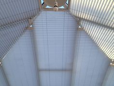 The same blue Conservatory Roof Blind with some more detail...