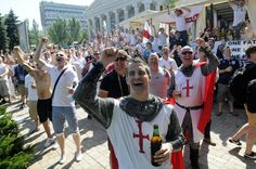 england supporters on euro 2012