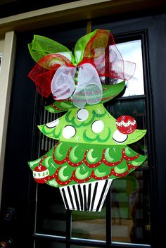 Door Hanger Christmas Tree Christmas Decor by LooLeighsCharm