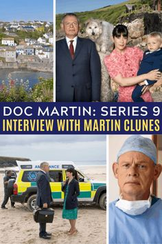 Doc Martin returns with Season 9 in autumn 2019 on Acorn TV in the US (ITV in the UK). We caught up with Martin Clunes to talk about the new season, his dogs' acting careers, and the one thing his wife says he absolutely won't get to do. Doc Martin Tv Show, Martin Movie, British Comedy, British Actors, British Tv Comedies, American Actors, Martin Clunes, Tv Series To Watch, Uk Tv