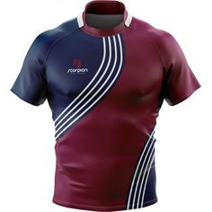 Scorpion Sports Rugby Shirts are suitable for rugby teams, schools and colleges. Manufactured in the UK in 2 weeks Womens Sports Fashion, Sport Fashion, Rugby Teams, Rugby Jerseys, Rugby Shirts, Sports Uniforms, Uniform Design, Mens Activewear, Bike Design