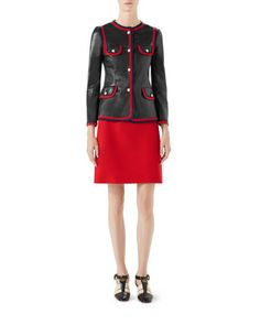 Cady Crepe Wool A-Line Skirt and Matching Items by Gucci at Bergdorf Goodman.