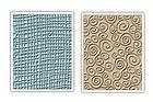 burlap & swirl embossing folders