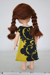 Disney animator doll's dress, jersey from marimekko