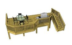 Free deck plans Plan name: Square feet: 360 Width: Depth: Height: (would need to be adjusted) Wood Deck Plans, Free Deck Plans, Pergola Plans, Pergola Kits, Pergola Ideas, Curved Pergola, Deck With Pergola, Backyard Pergola, Backyard Landscaping