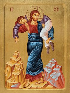 Images Of Christ, Religious Images, Religious Icons, Religious Art, Byzantine Art, Byzantine Icons, Christ The Good Shepherd, Monastery Icons, Christ Pantocrator