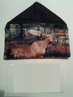 Back side of the business card holder made for a moose lover business card holder 1st try too small colourmoves
